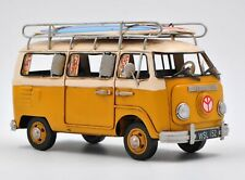 Decorative Mini Bus for Surfers with Surf Board Bright yellow VW Automobile DEAL