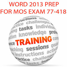 WORD 2013 for MOS Certification Exam 77-418 - Video Training Tutorial DVD