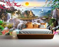 Ladder Falls Water 3D Full Wall Mural Photo Wallpaper Printing Home Kids Decor
