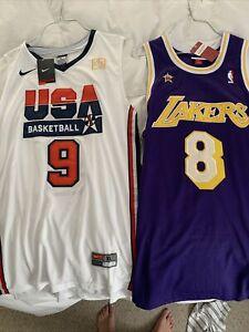 Michael Jordan Dream Team Jersey & Kobe Lakers Jersey W/accolades. 2 Jerseys🔥💎