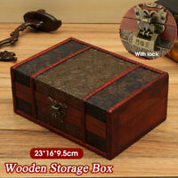Vintage Wooden Grape Leaf Jewelry Box Organizer Home Decor Chest Treasure Case