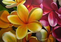 Modern Handpainted Egg Flower Abstract Oil Painting Canvas Wall Art Home Decor