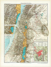 Historical map of Palestine from 1905 (E. Debes), Atlas, Vintage Print Poster