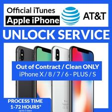 CLEAN FACTORY UNLOCK SERVICE Active on Another Account AT&T IPHONE XS XR X 8 7