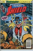 Legend of the Shield 1991 series # 1 UPC code near mint comic book