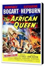 The African Queen Movie POSTER 27 x 40 Museum Wrapped Canvas Katharine Hepburn A