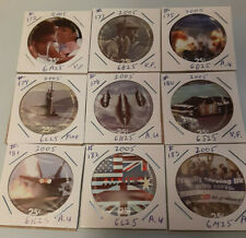 Lot of 9 pogs from the 6th Print  25 cents AAFES  Pogs from 2005  Fine - A.U.