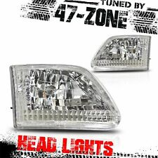 Stealth For Ford F150 F250 Expedition Chrome Housing Clear Lens Euro Headlight