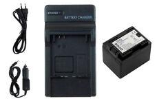 Batterie + Chargeur BP-727 avec INFOCHIP pour Canon LEGRIA HF R48, R306, R406