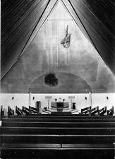 AK, Burgkirchen ALZ, Ev. Church, vue intérieure, pour 1968