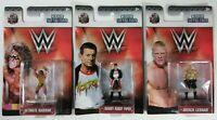 3 LOT: WWE Nano Metalfigs: Ultimate Warrior Rowdy Roddy Piper Brock Lesnar