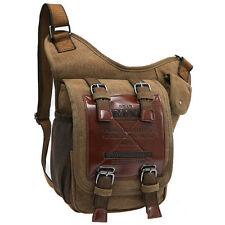 Men's Canvas Bags Vintage Military Messenger Shoulder Bag Waist Chest Bag Tote
