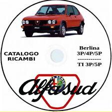 Alfa Romeo ALFASUD.Catalogo Ricambi,Spare Parts.Alfasud Berlina e TI.