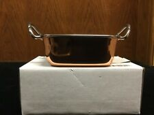 "Winco Stainless Steel Mini 4-1/2"" Square Copper Plated Roasting Pan"