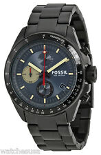 Fossil Decker Mens Black Dial Black Ion Plated Stainless Watch CH2942