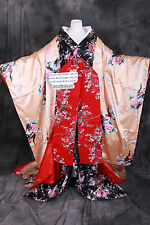 K-A4 ORIGINAL Tradition Japan Geisha Kimono Damen 7-tlg Set Luxus Kostüm costume