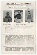 1953 CONQUEST OF EVEREST Promo Flyer JOHN HUNT Edmund Hillary MOUNTAIN CLIMBING