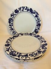 "4 SASAKI FINE CHINA ~ DAMASK 10 3/4"" DINNER PLATES  R W KITCHENS F1"