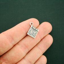 8 Bingo Card Charms Antique Silver Tone - SC6213