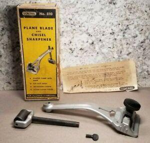 General No. 810 Plane Blade & Chisel Sharpener ~ Vintage Woodworking Made In USA