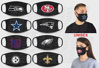 ANTI DUST POLLUTION FACE COVER * Made in EUROPE * QUALITY * NFL theme shield