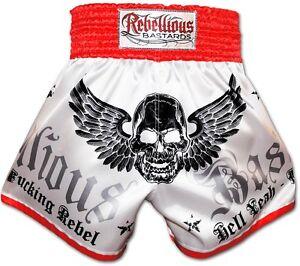Muay Thai Shorts Hell Yeah REBELLIOUS BASTARDS Thaiboxen Kampfsport Hose Größe S