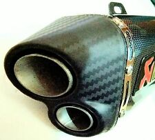 AKRAPOVIC EXHAUST SILENCER DUAL OUTPUT With DB killer tip FOR ALL BIKES
