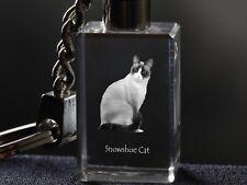 Snowshoe, Llavero de cristal, alta calidad, Crystal Animals ES