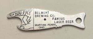 1930s Belmont Brewing Martins Ferry Ohio Spinner Fish Bottle Opener A-20-24