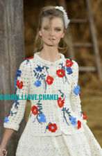 CHANEL 10P $7,650 MOST WANTED CROCHET FLOWERS CARDIGAN JACKET SWEATER,36/38,NWT