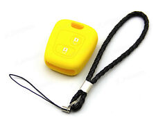 Yellow Silicone Case Cover For Citroen Remote Key C3 C4 C5 Saxo Picasso 2 Button