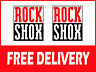 2no ROCK SHOX Fork Stickers 49mm x 42mm Mountain Bike FREE UK DELIVERY