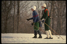 206039 CROSS COUNTRY SKIING A4 FOTO STAMPA