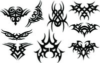 RC airbrush stencils/paint masks tribal center pieces2 (SINGLE USE ONLY)