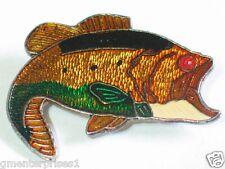 Large Mouth Bass Fish Pin Fish Pin Badge (Huge) (#5)