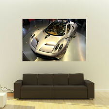 Poster of Pagani Huayra Gold Left Front Giant Super Car Print Huge 54x36 Inches