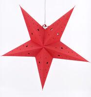 Weihnachtsstern Dekostern Ø 45cm Fensterstern Stern rot Papierstern hängend E14