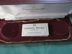 20 inch Gold Coloured Magnetic therapy necklace - Boxed