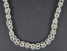 Byzantine Link Chain Necklace Sterling Silver Ladies 925 45.3g Er56