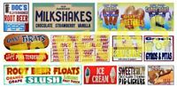 T2 DECALS HO SCALE 1/87 CARNIVAL SIGNS DECAL SET #4 | BN | HOCARN004
