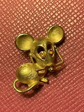 Vintage Avon Mouse With Moveable Glasses Brooch