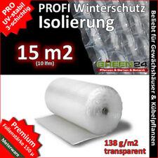10 Meter (15m²) Isolierfolie für Gewächshäuser Winterschutz Noppenfolie 3-lagig