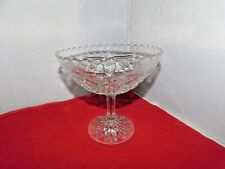 A BEAUTIFUL VINTAGE  GLASS  COMPOTE,