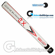 Arm-Lock Golf 14 Inch RX Series Counterbalance Jumbo Putter Grip - White / Red