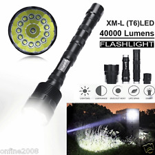 40000 Lumen XML T6 5 Modes Super Bright LED Tactical Flashlight Zoom Torch Light