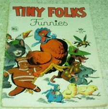 Tiny Folks Funnies Four-Color 60, (FN+ 6.5) 1944 Early Four-Color!