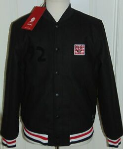 NWT  MEN'S  KEITH HARING  ELEMENT SPECIAL EDITION WOOL LETTERMAN JACKET L & XL