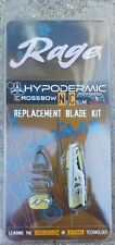 Rage Replacement Blades for Hypodermic Crossbow No Collar Broadheads