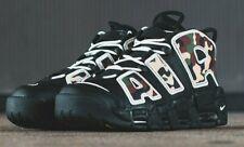 Rare NIKE AIR más Uptempo'96 Qs entrenadores SU19, UK9, Negro/Camo, CJ6122 001