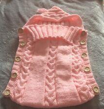 Envoltura swaddle Bebé Recién Nacido Con Capucha Cálido Hand Knit envolverlo manta saco de dormir